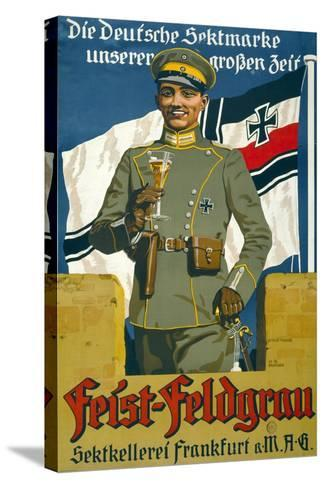 Poster Advertising Feist Champagne, 1917--Stretched Canvas Print