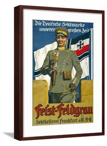 Poster Advertising Feist Champagne, 1917--Framed Art Print