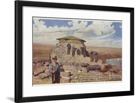 Postcard Depicting a Typical Blockhouse--Framed Art Print