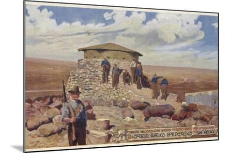 Postcard Depicting a Typical Blockhouse--Mounted Photographic Print