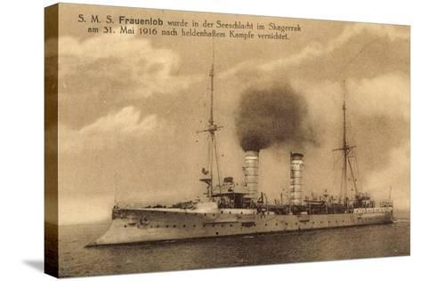 Kriegsschiffe, S.M.S. Frauenlob Auf See--Stretched Canvas Print