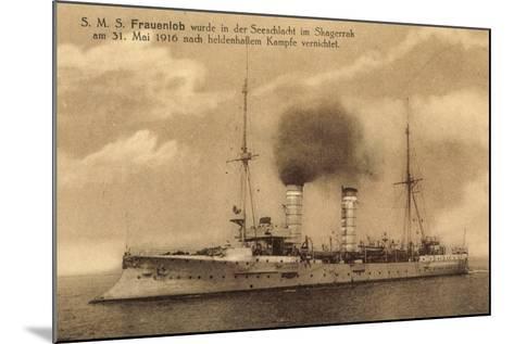 Kriegsschiffe, S.M.S. Frauenlob Auf See--Mounted Giclee Print