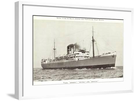 Natal Line, T.S.S Umgeni, Umtali, Umtata,Dampfschiff--Framed Art Print