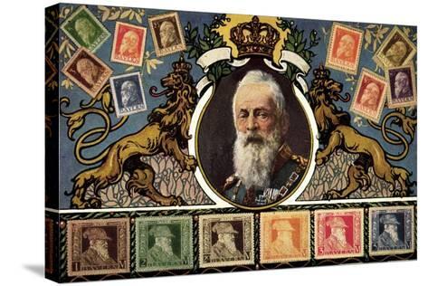 Briefmarken Prinzregent Luitpold Serie, Zieher--Stretched Canvas Print