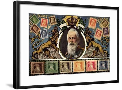Briefmarken Prinzregent Luitpold Serie, Zieher--Framed Art Print