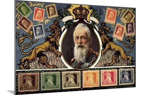 Briefmarken Prinzregent Luitpold Serie, Zieher--Mounted Giclee Print