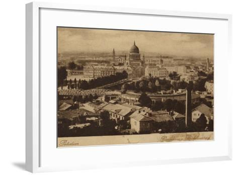 Postcard Depicting a General View of the City of Potsdam--Framed Art Print