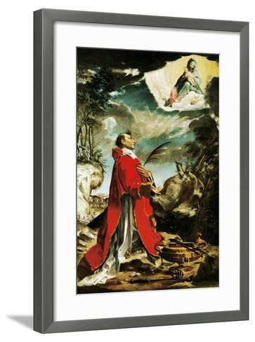 Mary Appearing in San Vincenzo--Framed Art Print