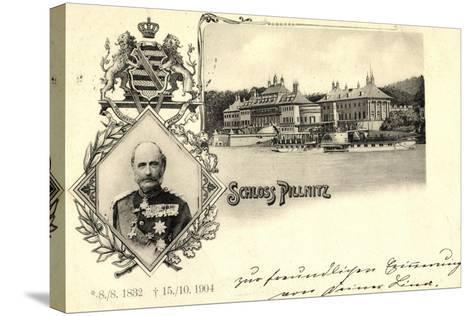 Passepartout K?nig Friedrich August, Schloss Pillnitz--Stretched Canvas Print