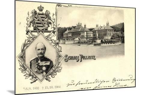 Passepartout K?nig Friedrich August, Schloss Pillnitz--Mounted Giclee Print