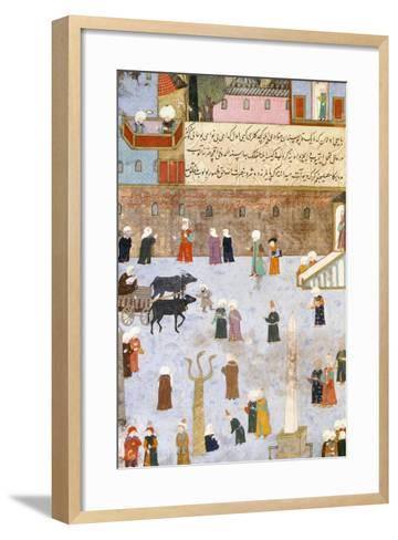 Constantinople: the Hippodrome Square and the Palace of Ibrahim Pasa--Framed Art Print