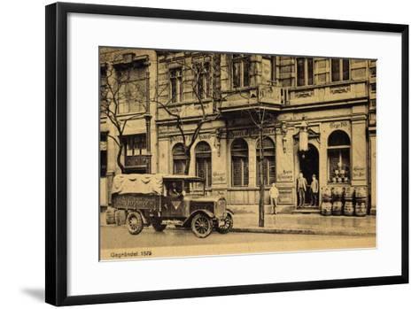 Berlin, Krausenstr 64, Bierhaus Zum Klaussner, Lkw--Framed Art Print