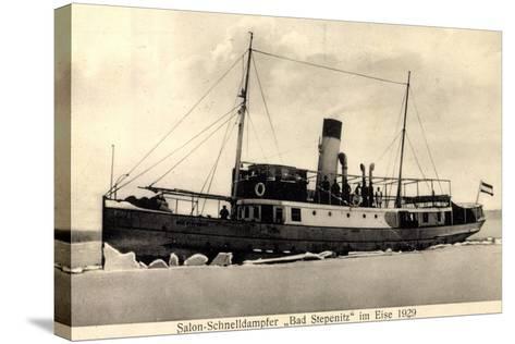 Dampfer Bad Stepenitz Im Eise Im Jahre 1929--Stretched Canvas Print