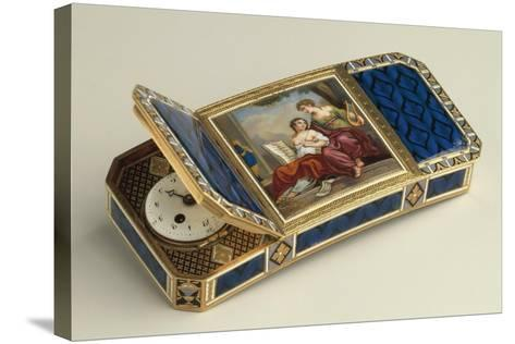 Snuffbox with Clock--Stretched Canvas Print