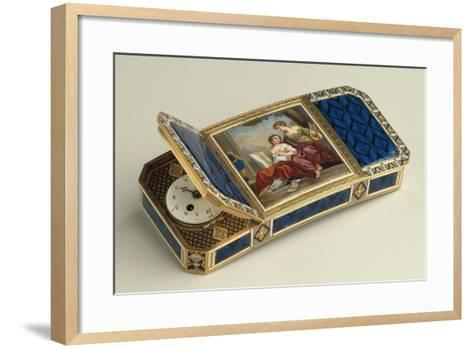 Snuffbox with Clock--Framed Art Print