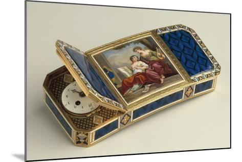 Snuffbox with Clock--Mounted Giclee Print