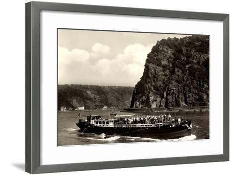 Binnenschiff Casa Nova Auf Dem Rhein, Loreley--Framed Art Print
