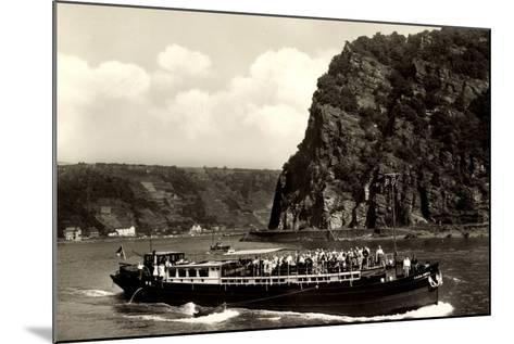 Binnenschiff Casa Nova Auf Dem Rhein, Loreley--Mounted Giclee Print