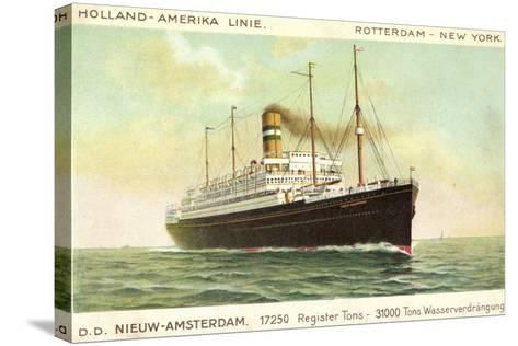 Hal, D.D. Nieuw Amsterdam, Rotterdam, New York--Stretched Canvas Print