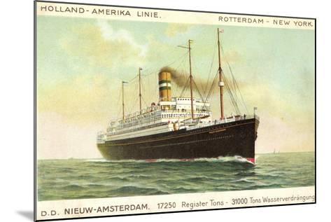 Hal, D.D. Nieuw Amsterdam, Rotterdam, New York--Mounted Giclee Print