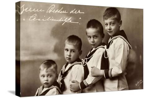 Cecilienhilfe, Vier Söhne Des Kronprinzenpaares--Stretched Canvas Print