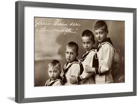 Cecilienhilfe, Vier Söhne Des Kronprinzenpaares--Framed Art Print