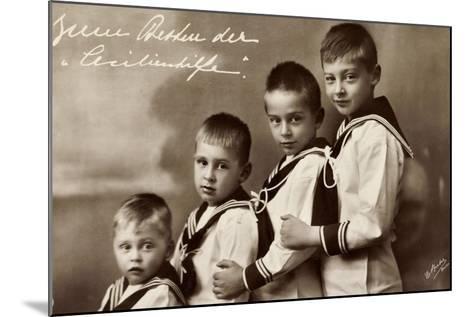Cecilienhilfe, Vier Söhne Des Kronprinzenpaares--Mounted Giclee Print