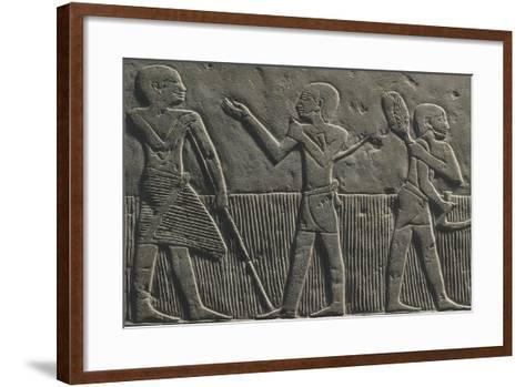 Wheat Harvest, Relief--Framed Art Print