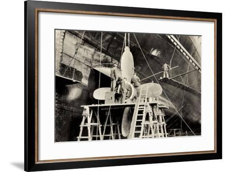 Schiffsschraube Der Ms Milwaukee Der Hapag--Framed Art Print