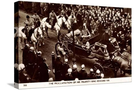 Proclamation of King Edward VIII of England, Coach--Stretched Canvas Print