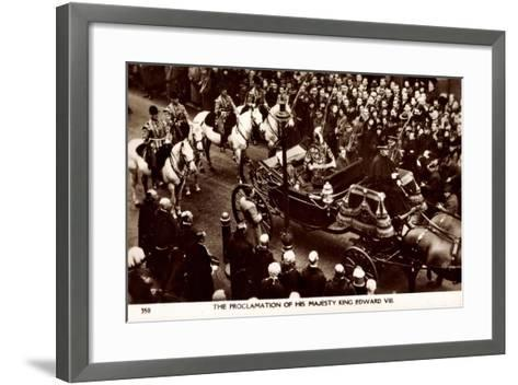 Proclamation of King Edward VIII of England, Coach--Framed Art Print