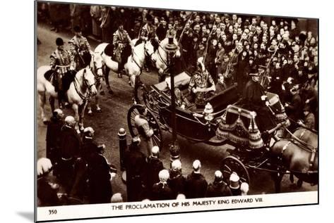 Proclamation of King Edward VIII of England, Coach--Mounted Giclee Print