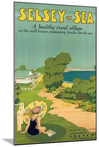 Poster Advertising Selsey-On-Sea, 1922--Mounted Giclee Print