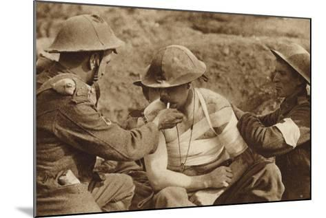 Wounded But Not Too Ill for a Smoke, World War I--Mounted Photographic Print