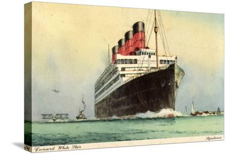 K?nstler Cunard White Star, Dampfschiff Aquitania--Stretched Canvas Print