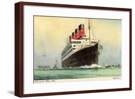 K?nstler Cunard White Star, Dampfschiff Aquitania--Framed Art Print