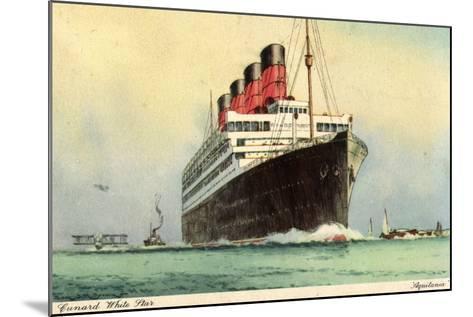 K?nstler Cunard White Star, Dampfschiff Aquitania--Mounted Giclee Print