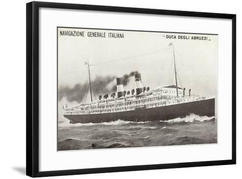 Ngi, Duca Degli Abruzzi, Navigazione Generale Italia--Framed Art Print