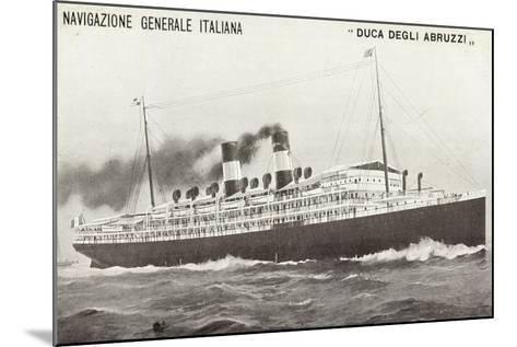 Ngi, Duca Degli Abruzzi, Navigazione Generale Italia--Mounted Giclee Print