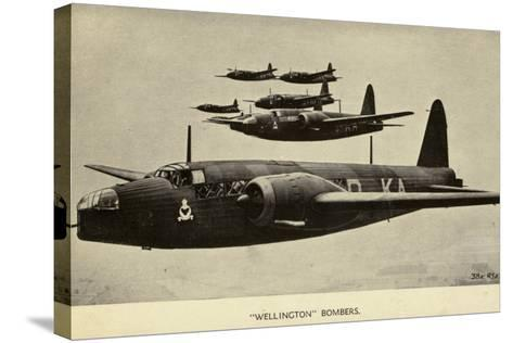 Wellington Bombers in Flight--Stretched Canvas Print