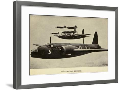 Wellington Bombers in Flight--Framed Art Print