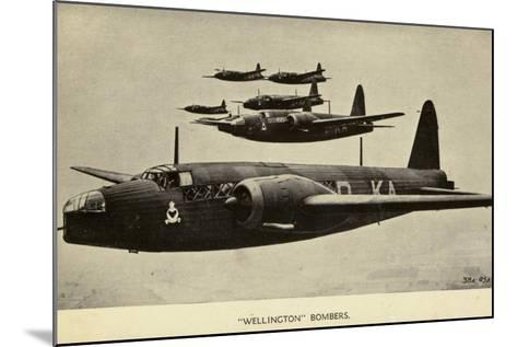 Wellington Bombers in Flight--Mounted Photographic Print