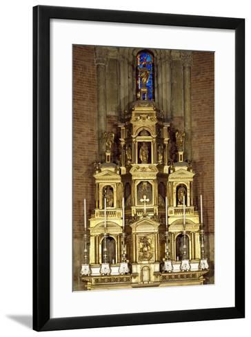 Presbytery Behind Ancient Altar, San Michele Maggiore Basilica, Pavia, Italy--Framed Art Print