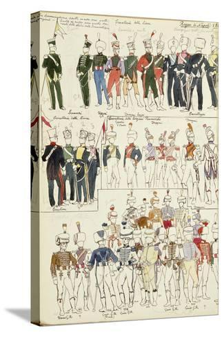 Various Uniforms of the Kingdom of Naples from 1814--Stretched Canvas Print