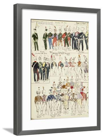 Various Uniforms of the Kingdom of Naples from 1814--Framed Art Print