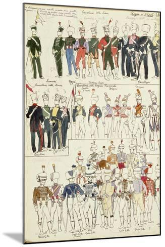 Various Uniforms of the Kingdom of Naples from 1814--Mounted Giclee Print