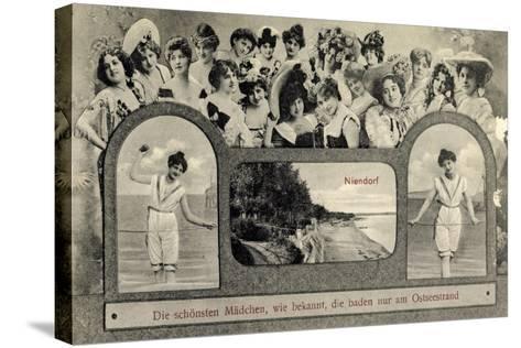 Niendorf Timmendorfer Strand Ostsee, Sch?ne Damen--Stretched Canvas Print