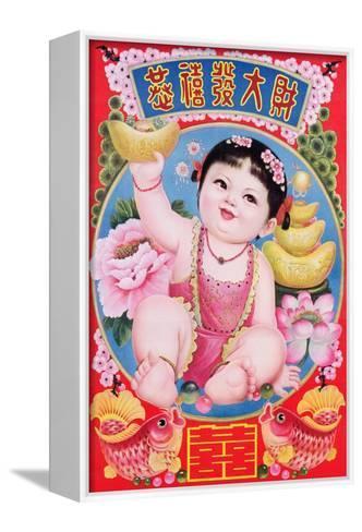 Chubby Girl Baby, 1990--Framed Canvas Print