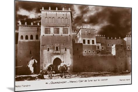 Ouarzazate - Morocco - Moonlight on the Kasbah--Mounted Photographic Print