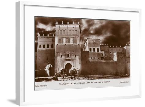 Ouarzazate - Morocco - Moonlight on the Kasbah--Framed Art Print